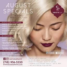 Natura Spa NYC Promo August 2019