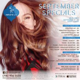 Natura Spa NYC Promo September 2019